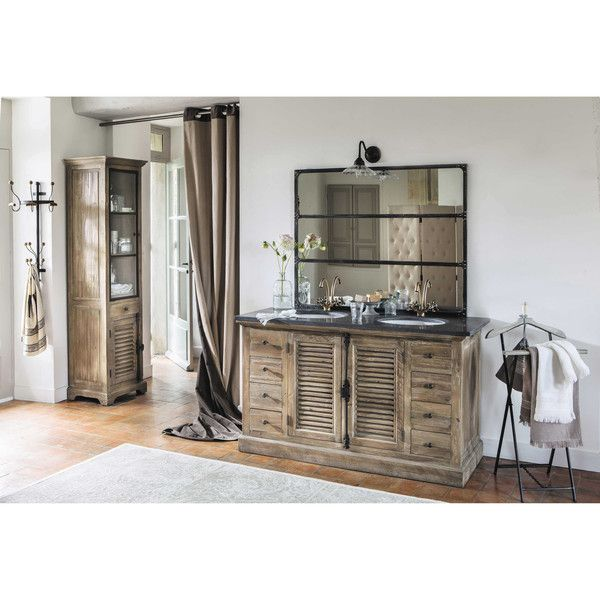 miroir en m tal effet rouille h 120 cm cargo m taux rouille et miroir. Black Bedroom Furniture Sets. Home Design Ideas