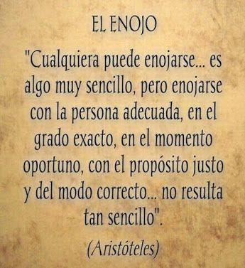 El enojo. Aristóteles...