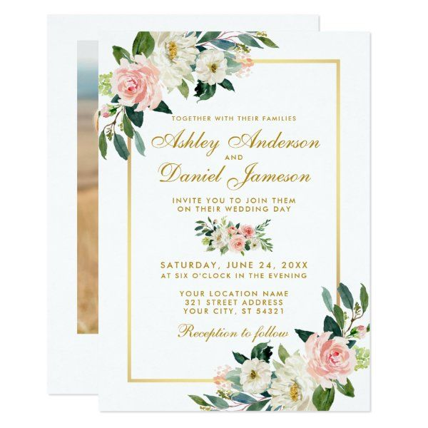 Custom Wedding Invitation Wedding Colors Easter Spring Season Woodland Wedding Gold Unique Wedding Invitation