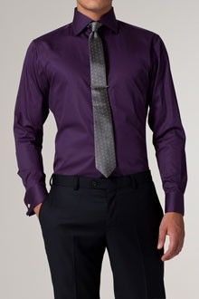 Benny Party/club purple dress shirt with grey tie - Google Search