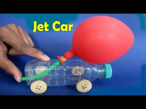 Air craft car with balloon and straw - Amazing kids life hacks - YouTube
