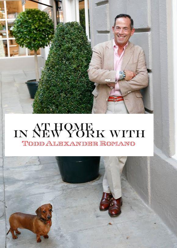 the stylist at home. interior designer todd alexander romano's new