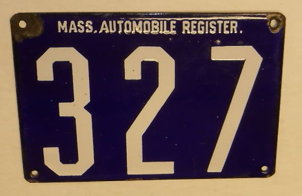 Mass Register #327 license plate - Realized Price: $5,310.00