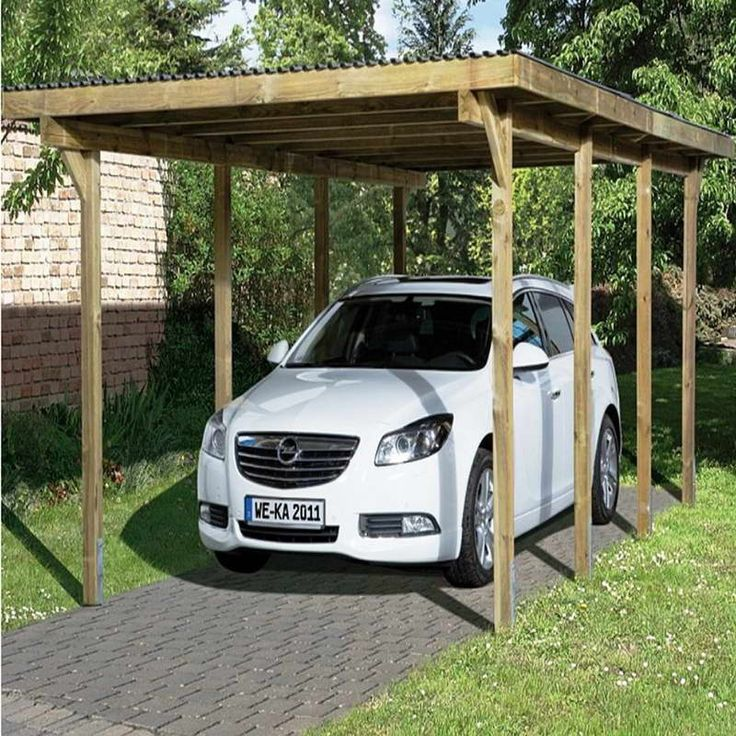 9 best images about car port on pinterest carport ideas for Garage with carport designs
