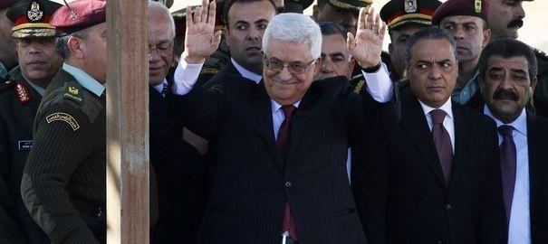 Retour triomphal de Mahmoud Abbas en Palestine