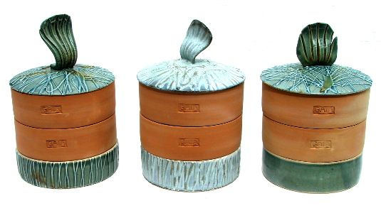 Katalin-GAIA ceramic sprouters. Hand-made stoneware and earthenware sprouters for sprouting seeds, beans and pulses