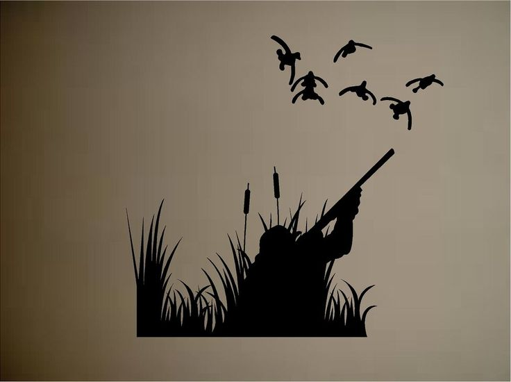 Details about ducks duck hunting outdoors vinyl wall decal for Duck hunting mural
