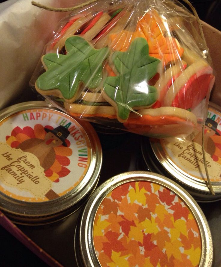 Thanksgiving Care Package, Thanksgiiving Gift, Sugar Cookies, Mini Thanksgiving Cookies, Fall, Thanksgiving Cookies, College Care Packagep by CookieTrayCookies on Etsy https://www.etsy.com/listing/210297166/thanksgiving-care-package-thanksgiiving