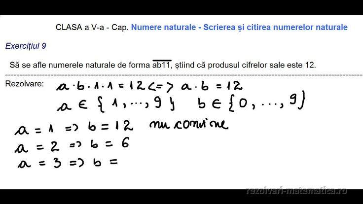 CLASA a V-a - Cap. Numerele naturale de forma xy- Scrierea și citirea numerelor naturale  Exercițiul 9  Să se afle numerele naturale de forma ab11, știind că produsul cifrelor sale este 12.   -------------------------------------------------------------------------------------------------------------------------------