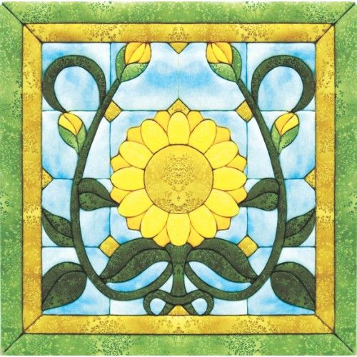 Free Sunflower Pattern Mary Maxim Sunflower Stained