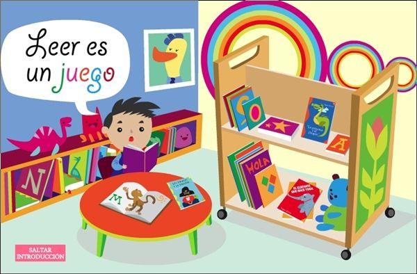 Leer es un juego: Se trata de una pequeña actividad en la que se cuentan tres cuentos, de forma audiovisual y también interactiva, ya que los niños colaboran en la lectura completando letras, sílabas o palabras que faltan en el texto. Promueve el aprendizaje de la lectura, la iniciación al conocimiento literario y la actitud positiva hacia la lectura de cuentos.