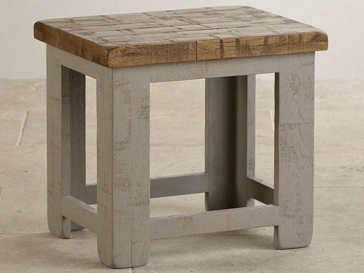 Clermont Painted Rough Sawn Solid Oak Dressing Stool £63