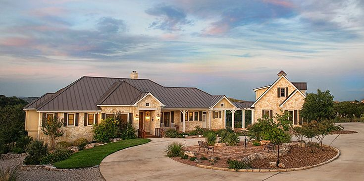 A Circle Driveway Adds Style And Extra Parking Space To