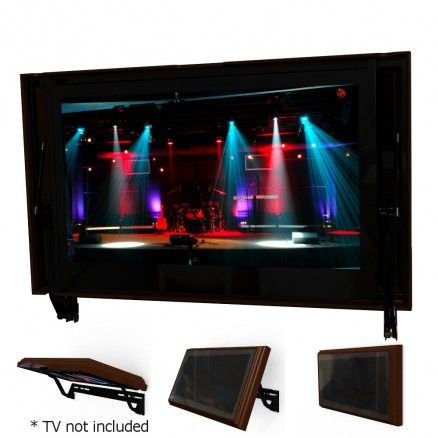 Flip around tv brackets hide your tv easily and affordably with the