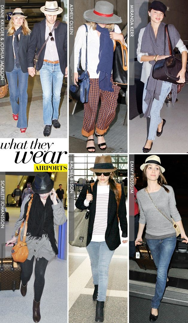 What They Wear: Airports - Celebrity Style and Fashion from WhoWhatWear