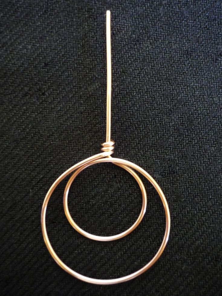 how to make a double circle pendant