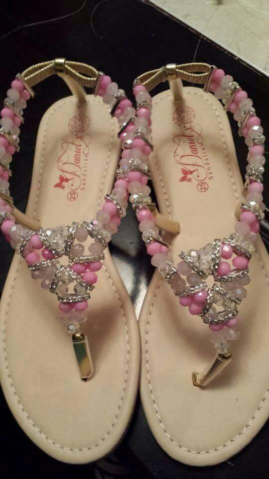 Sandalias con cristal