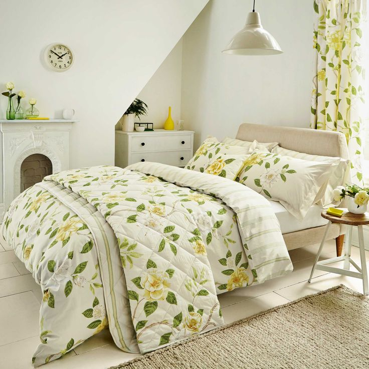 Yellow Floral Duvet Covers | Yellow duvet cover | Shop for cheap Home Textiles and Save ...