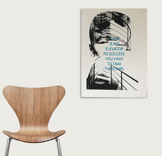 "Art on wood by Marie Prokopek ""Succes"""