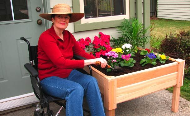 134 best accessible outdoors images on pinterest for Gardening tools for disabled
