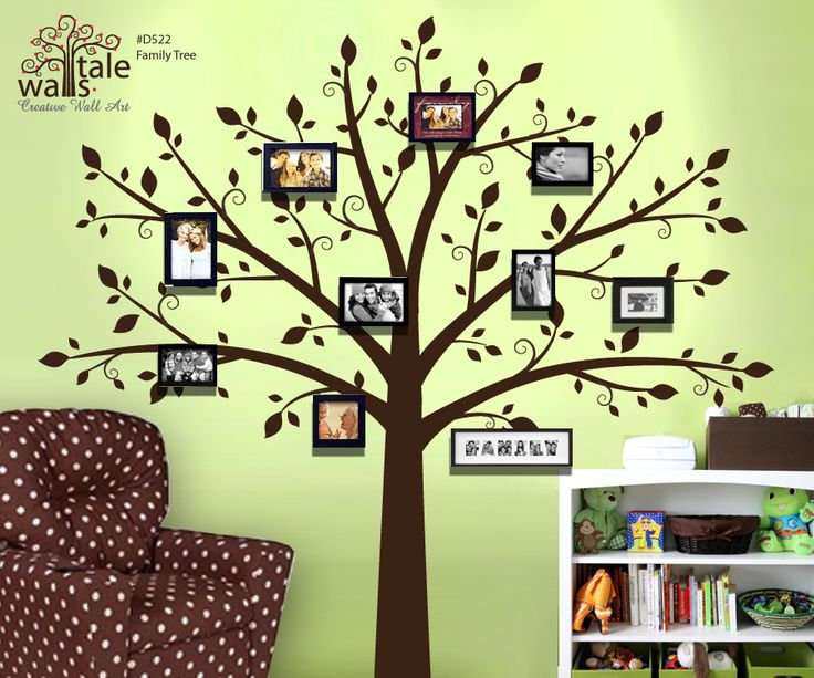 Large Tree Wall Decal For Photo Pictures, Family Tree Wall Decal   Large  Nursery Wall Decal (wall Sticker) Part 49