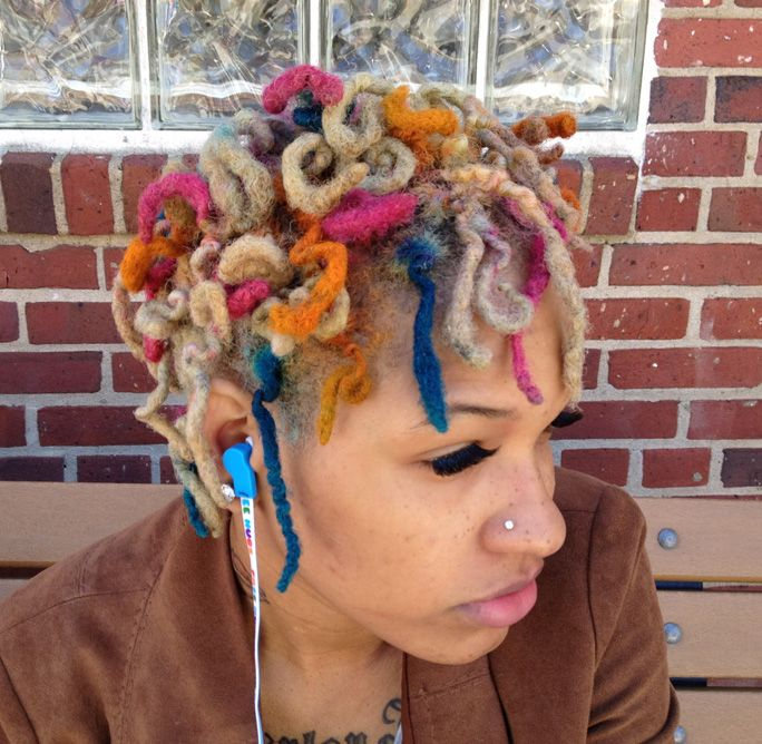 different hair styles for dread w rainbow highlights colored hair 4783
