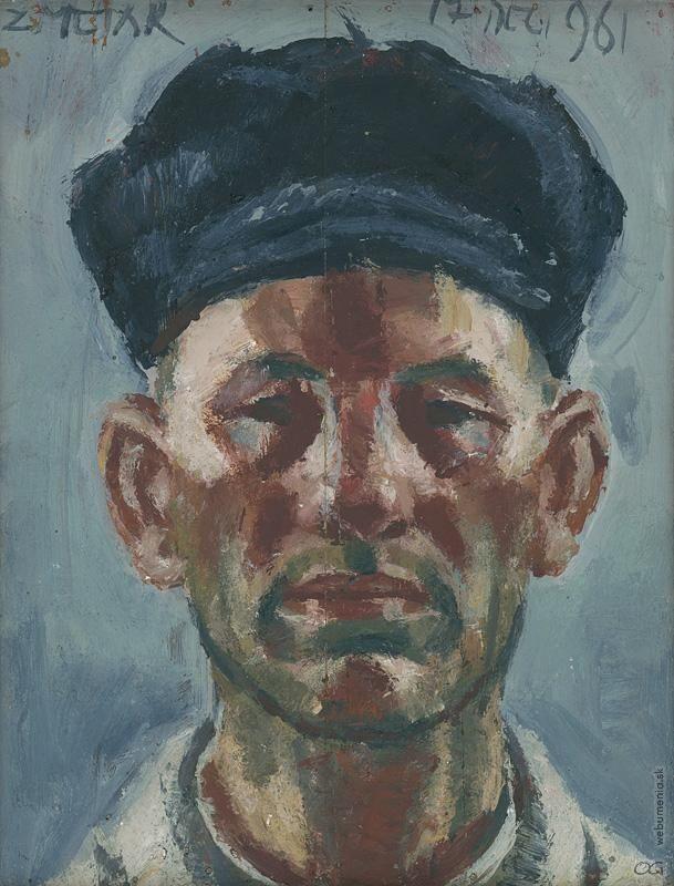 Ernest Zmeták: Autoportrét:1961