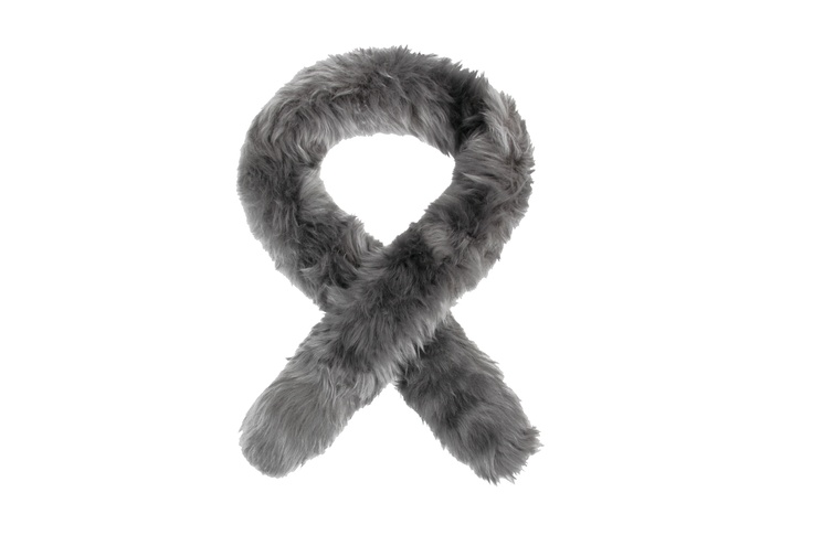 Sheepskin Scarf - Dover Grey  Available at Ede and Ravenscroft
