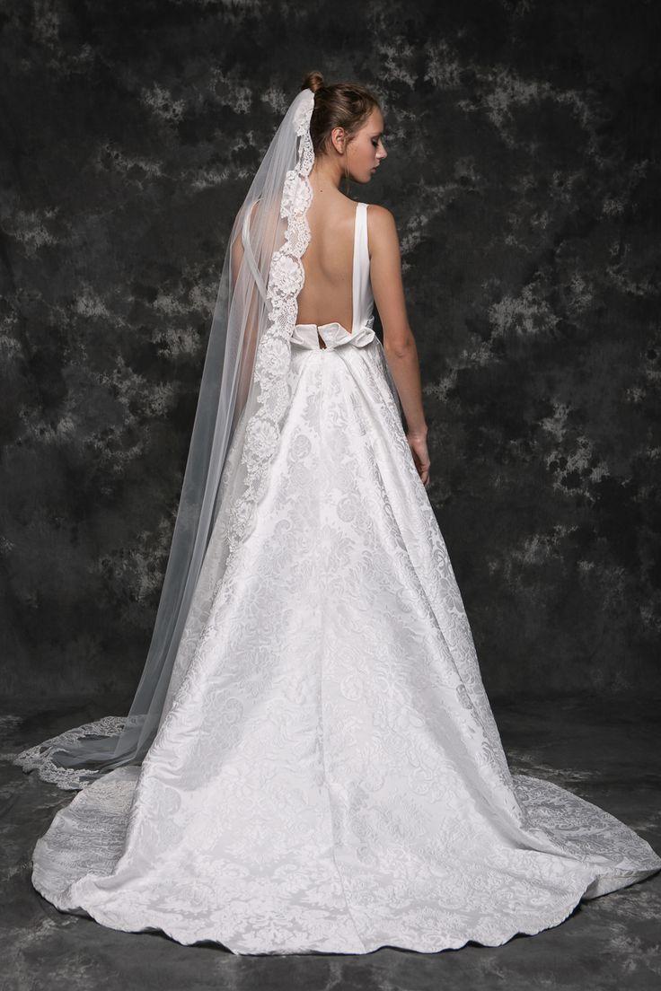 Pureza Mello Breyner Atelier - romantic and elegant bride dress #bride #modern #lace #cotton #silk #romantic #bridal #dress #designer #satin #handmade #by #measure #elegant