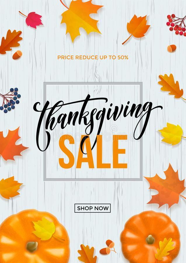 Thanksgiving Sale Poster Autumn Pumpkin Promo Discount Web Banner Vector Leaf Ba Sponsored Affiliate Ad Pos In 2020 Sale Poster Thanksgiving Sale Banner Vector