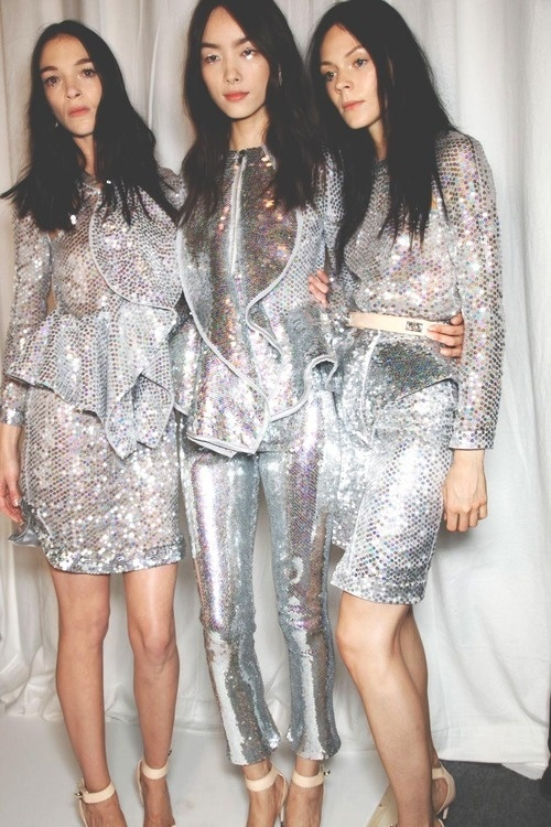 Silver sequin sparkle suit jacket