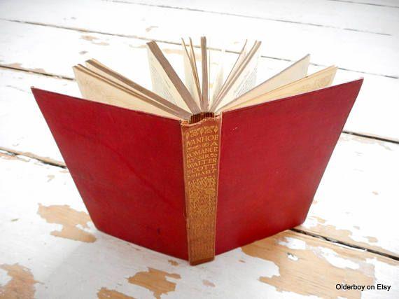 1914 vtg book IVANHOE a romance by sir Walter Scott from