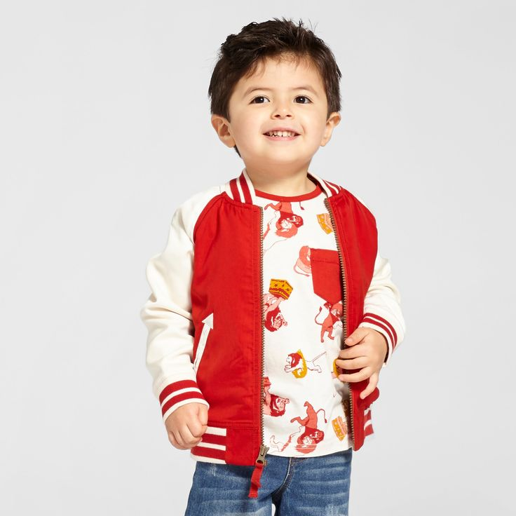 Toddler Boys' Lion Bomber Jacket - Genuine Kids from OshKosh Red Oak Opaque 4T