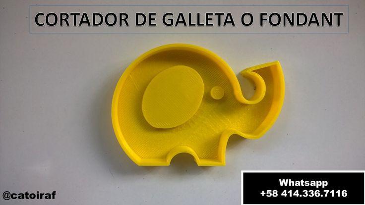 3D Printed Elephant Cookie Cutter by Catoiraf Haz tus galletas de forma divertida!!! Dimensiones: 8cm Impreso en plástico ABS de alta calidad. (color variable) Diseño: Fernando Catoira Precio: 4 USD más envío.