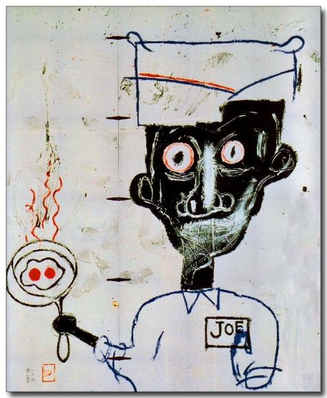 "Jean-Michel Basquiat ""Eggs and Eyes,"" 1983."