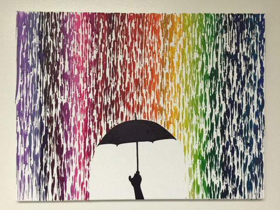Melted Crayon Art by 4YourBareWalls on Etsy