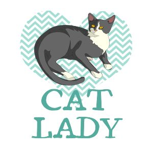 Cat Lady T-Shirt of the not so crazy variety!   Fabrily
