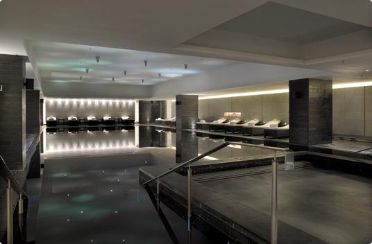 Crystal-lit indoor swimming pool at ESPA at The Ritz-Carlton, Powerscourt