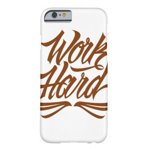 Work Hard Barely There iPhone 6 Case at http://www.zazzle.com/letterhype #WorkHard #lettering #LetterHype #calligraphy #CustomLettering