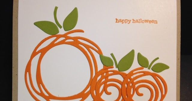 I know it's a little early for Halloween but I found a card similar to this made by Mena at Personally Yours . She had two pumpkins on he...