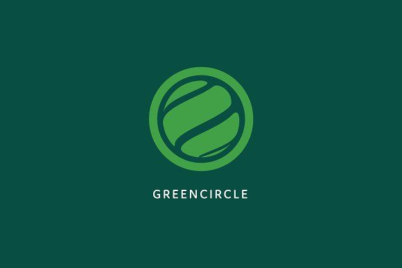 Green Circle Logo Template by PixaSquare on @creativemarket