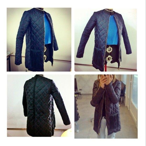 #Quilted #vest #coat #long #thread #autumn #hardwork #handmade #collection #color #płaszcz #kamizelka #pik #pikowana #kolor #rękodzieło #szycie #materiał #sewing #kolorowo #top #Fashion #pink #black #fringe #tassel #frędzle