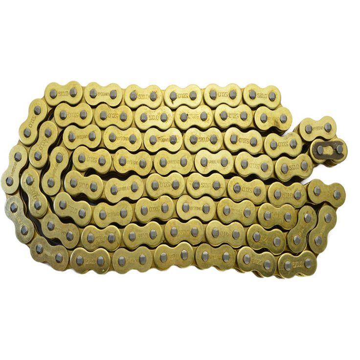 530 * 120 Motorcycle Drive Chain ATV parts 530 Pitch Heavy Duty Gold O-Ring Chain 120 Links motocross dirt bike pit bike