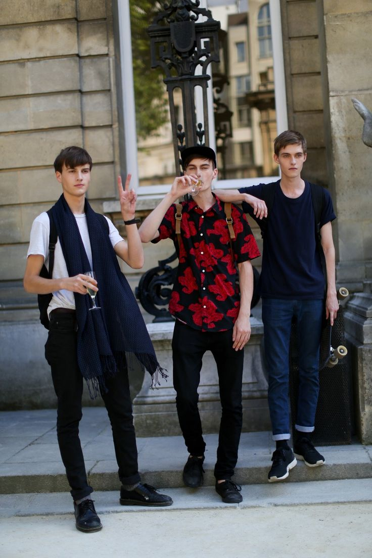 Ted Le Sueur, Jack Chambers, Adam Abraham at PFW S/S 2015