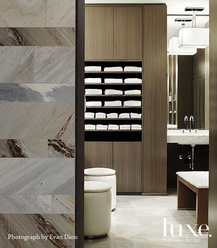 Changing Room At Toronto's The Hazelton Hotel By Architect