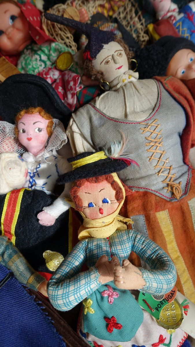 Group of dolls from Portugal & Madeira