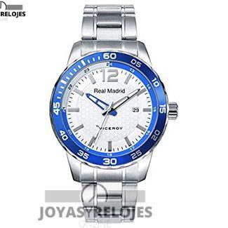 ⬆️✅ Viceroy Real Madrid Caballero 40961-05 Acero ⬆️✅ Fantástico ejemplar perteneciente a la Colección de RELOJES VICEROY ➡️ PRECIO 81 € Disponible en  https://www.joyasyrelojesonline.es/producto/reloj-viceroy-real-madrid-caballero-40961-05-acero/  ¡¡No los dejes Escapar!! #Relojes #RelojesViceroy #Viceroy