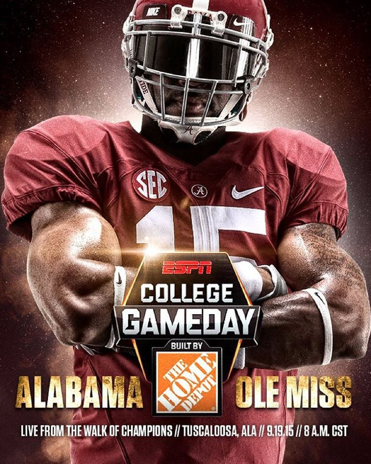 """""""Is it Saturday yet? Wake up early and come out to ESPN College Gameday live from 8-11am on The Walk of Champions #bamagameday #BuiltByBama #RollTide"""""""