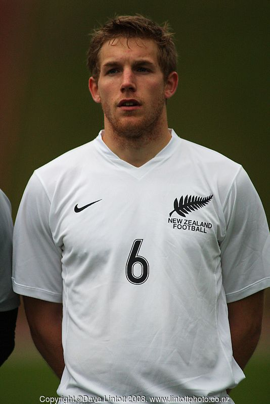Steven Old during the international football friendly between the NZ Oly-Whites and Chile Under-23 at Newtown Park, Wellington, New Zealand on Wednesday 3 July 2008. Photo: Dave Lintott / lintottphoto.co.nz