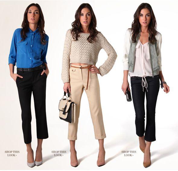 4ffd5f097f95 Cute crop pant outfits